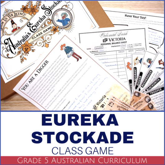 Eureka Stockade Activity game for grade 5 HASS