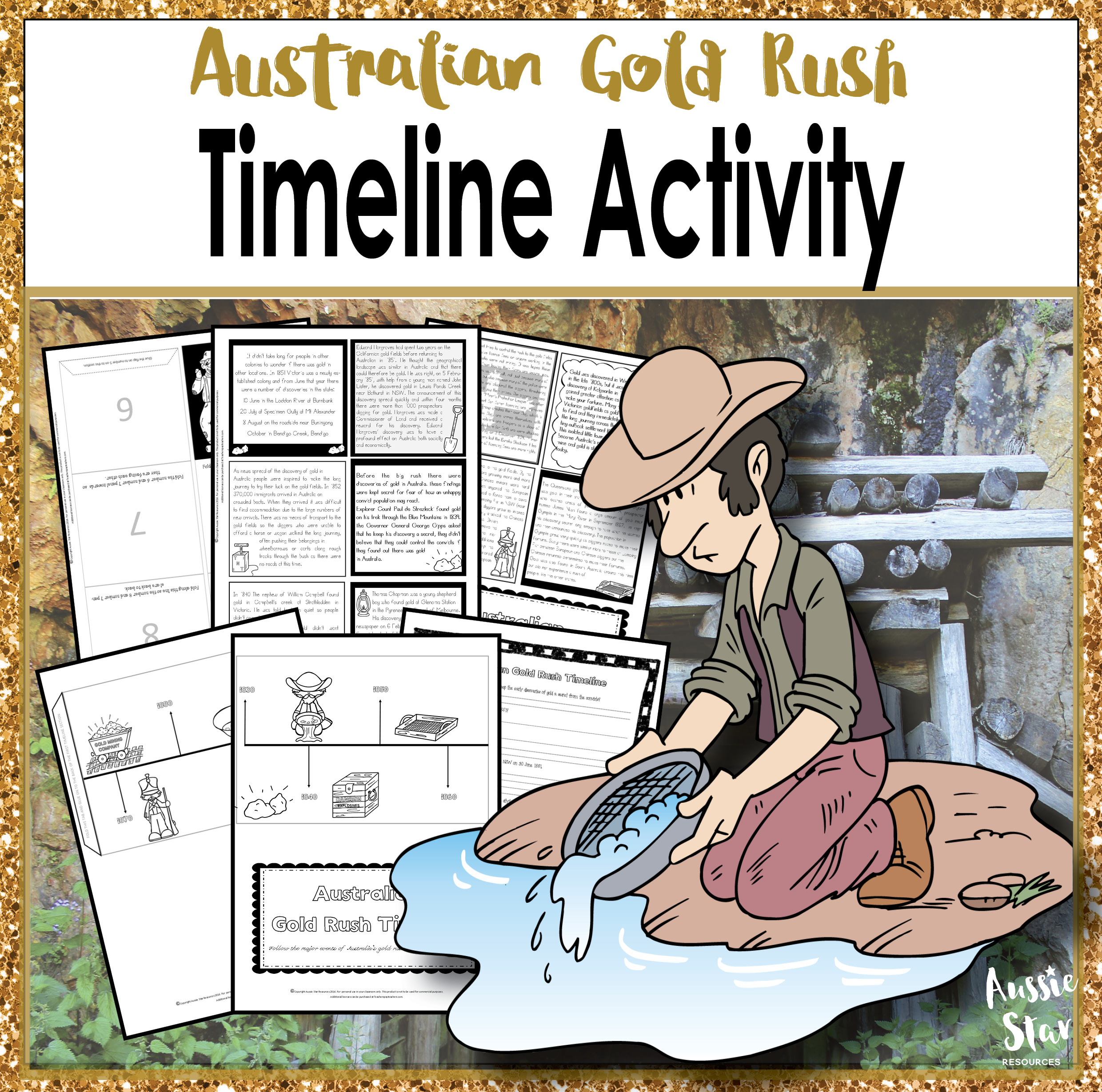 Australian Gold Rush Foldable Timeline Activity