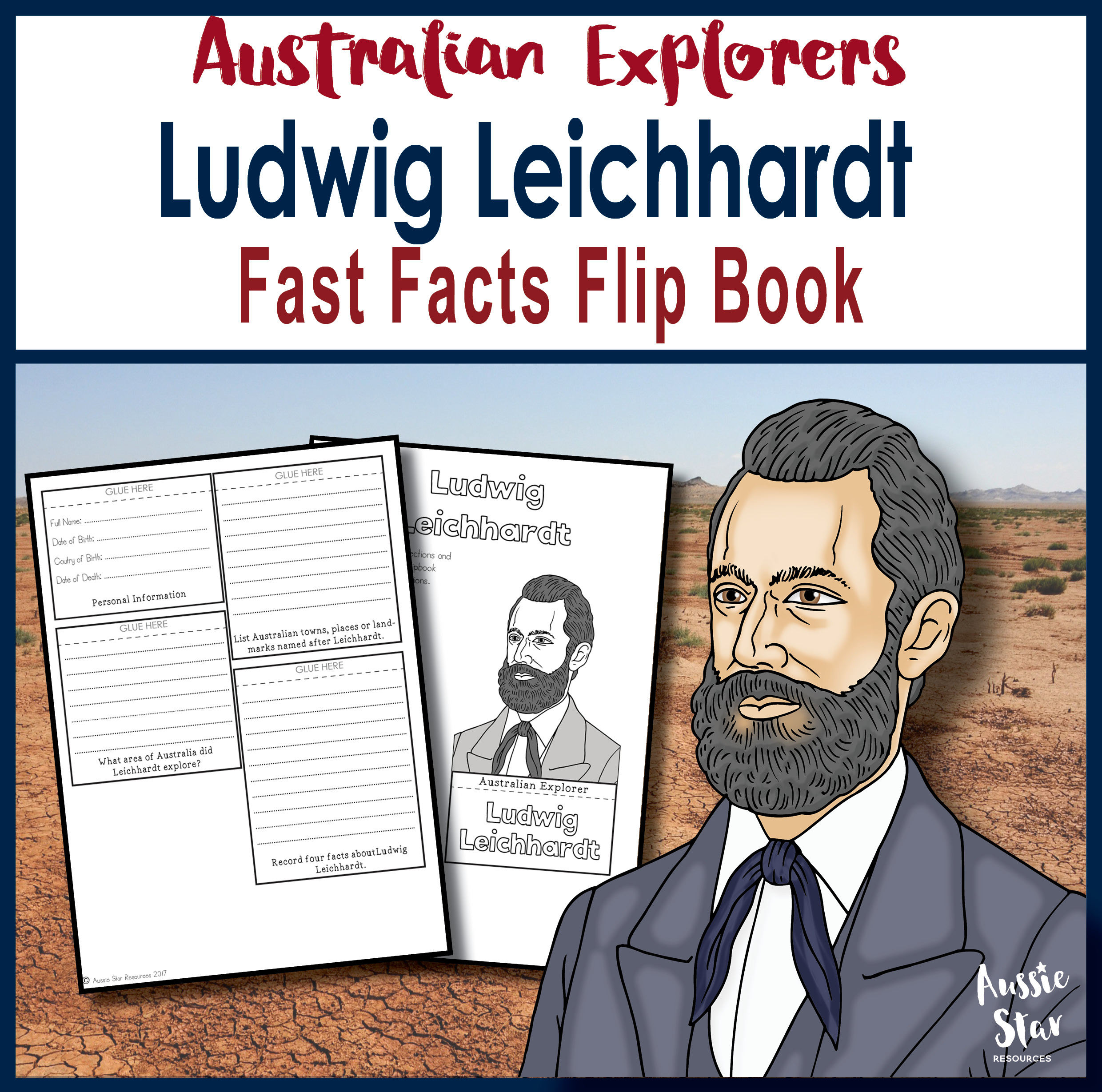 Ludwig Leichhardt Fast Facts Flip Book