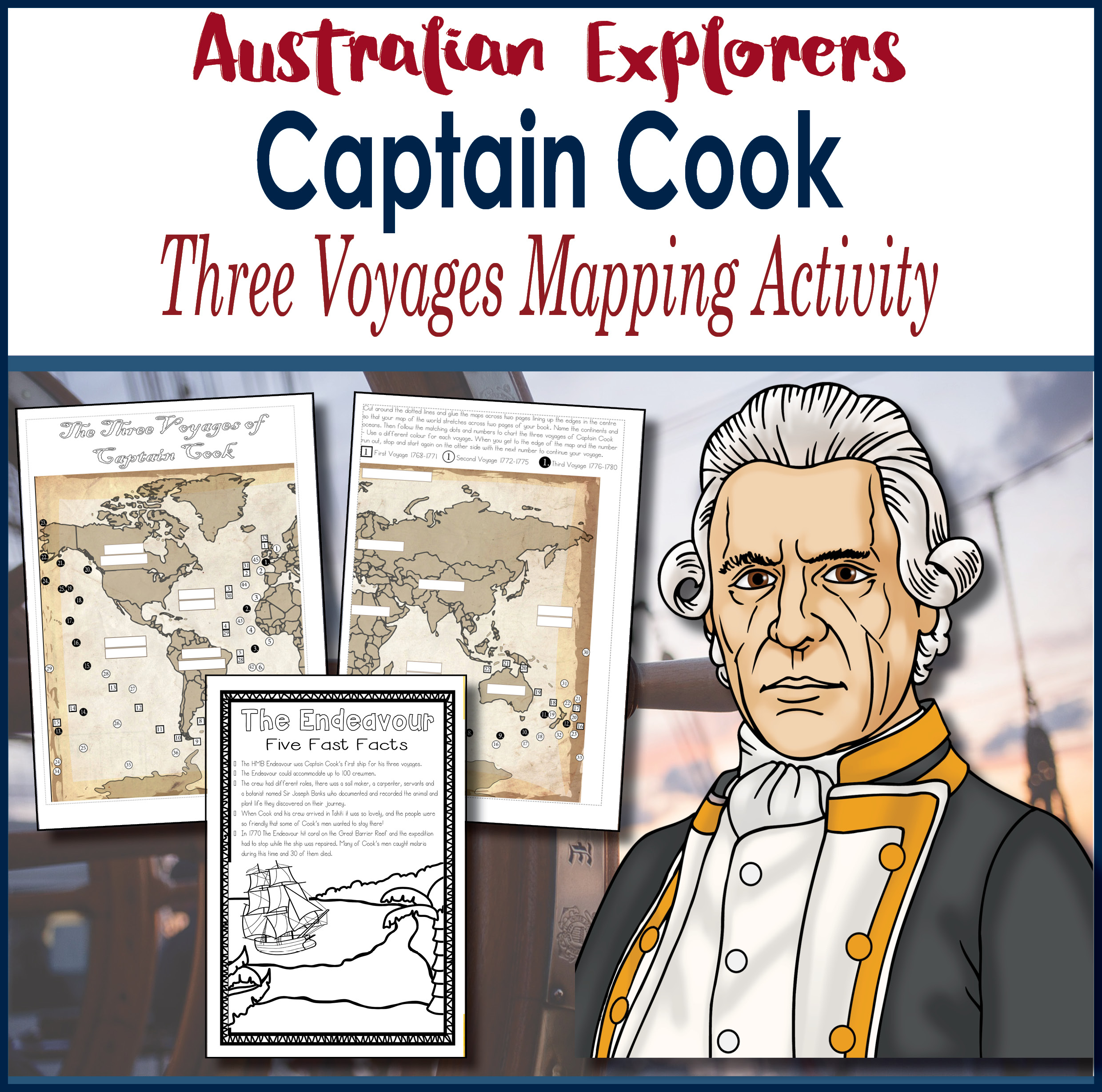 Captain Cook Three Voyages Mapping Activity