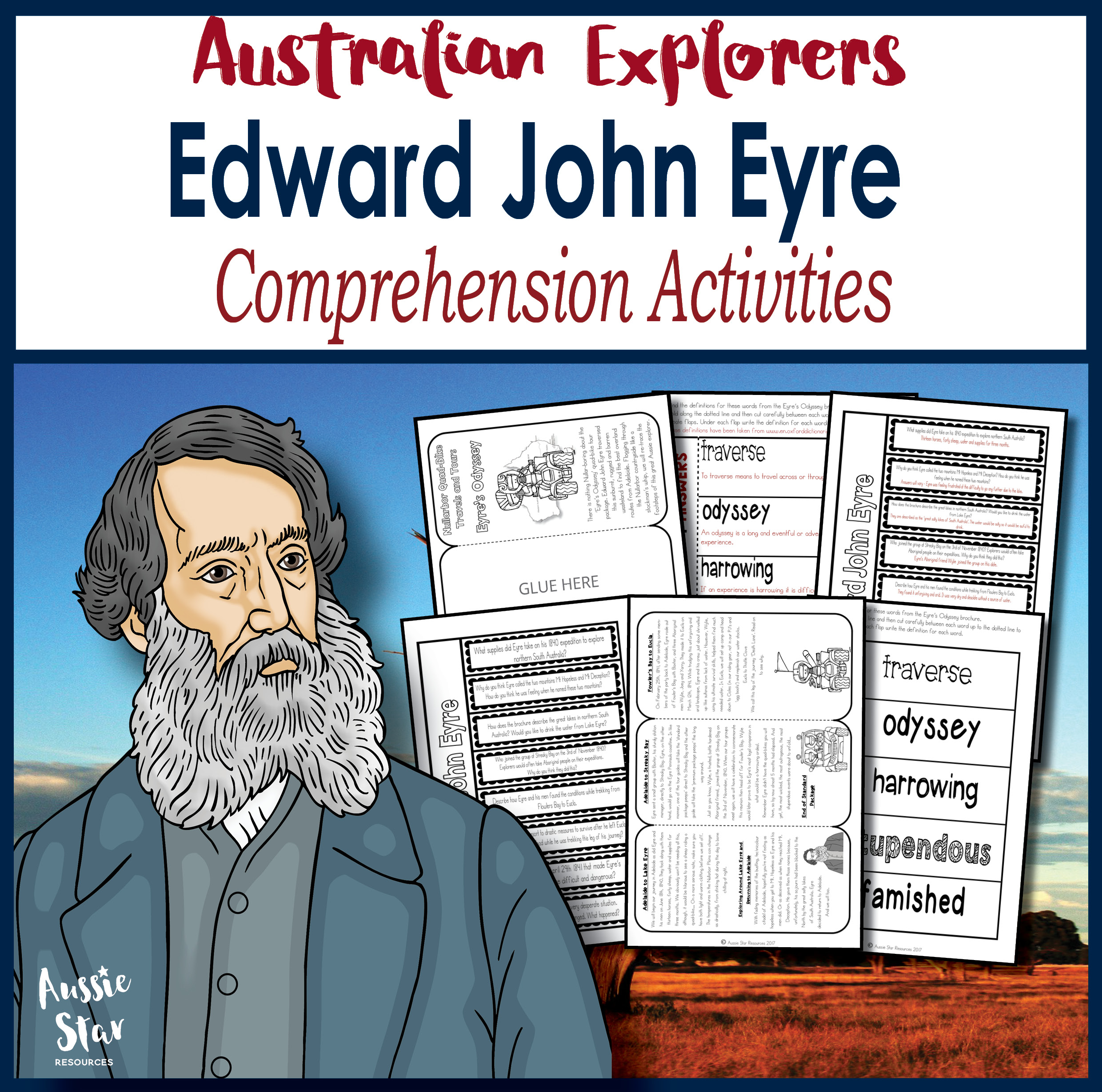 Edward John Eyre Comprehension Activities