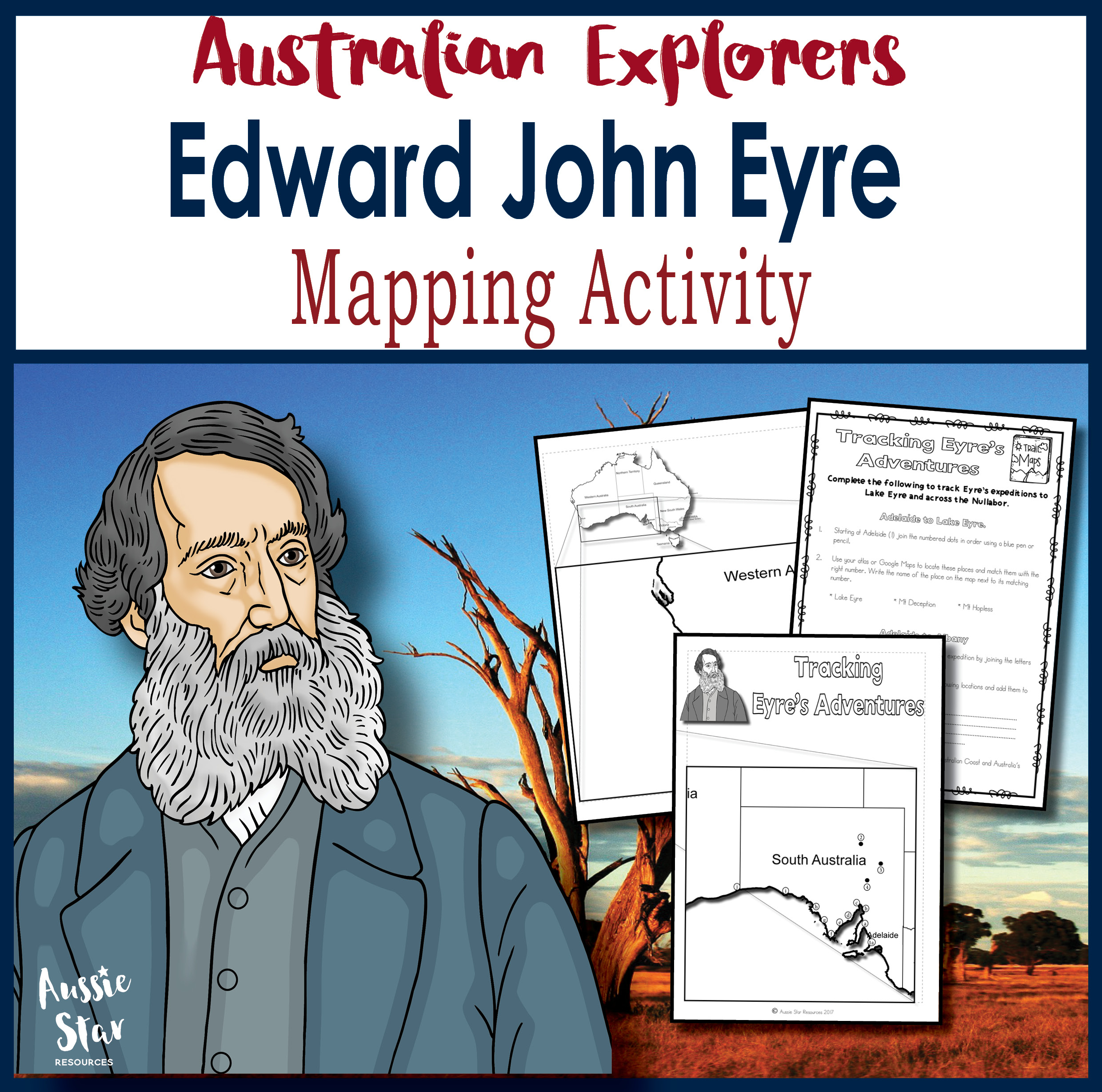Edward John Eyre Expedition Mapping Activity