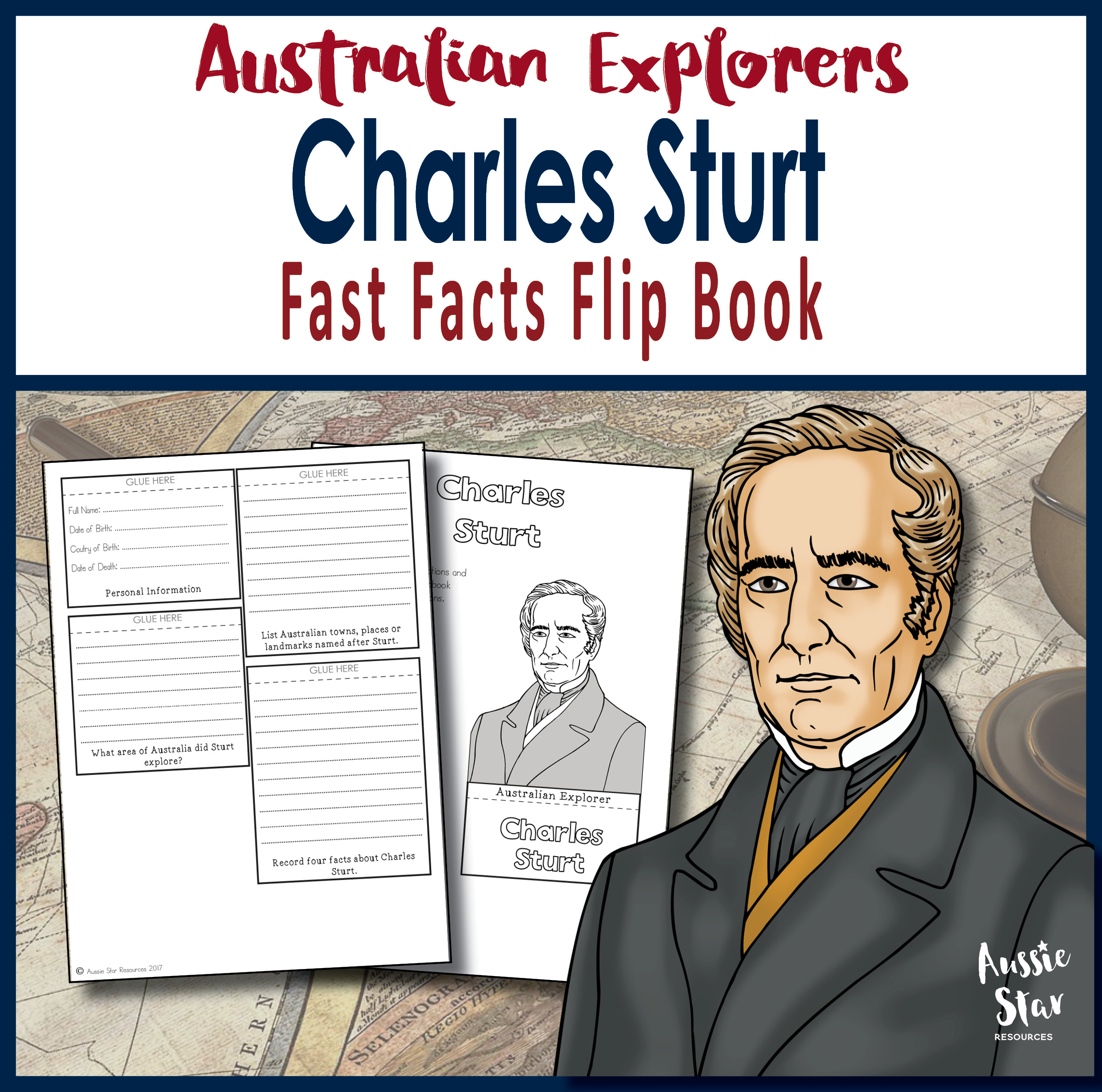 Charles Sturt fast facts flip book