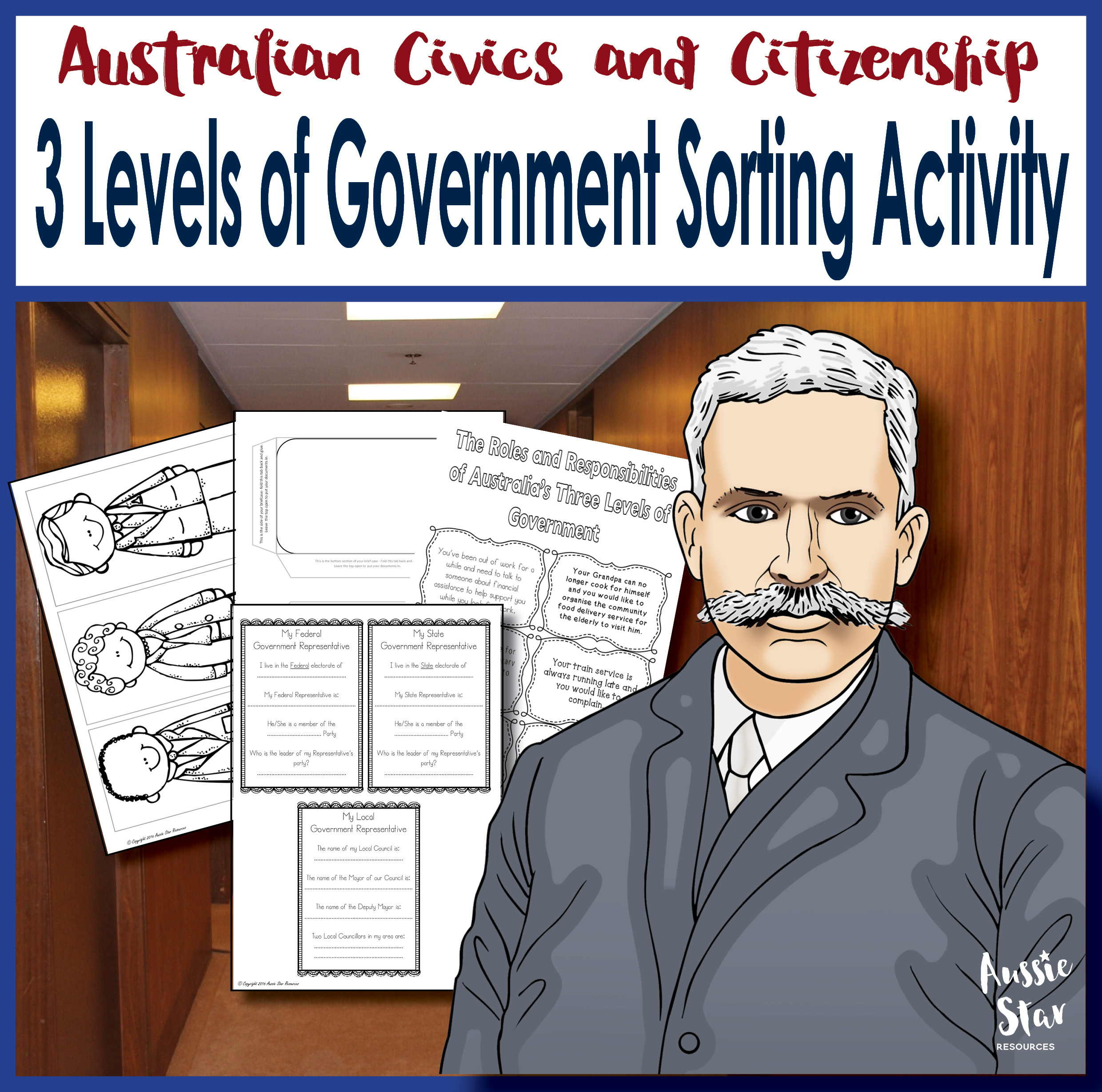 three levels of government sorting activity