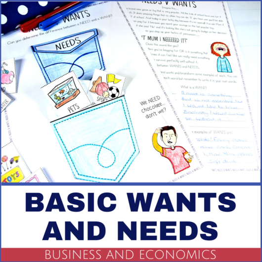 Year 5 Business and Economics lesson ideas and activities needs and wants