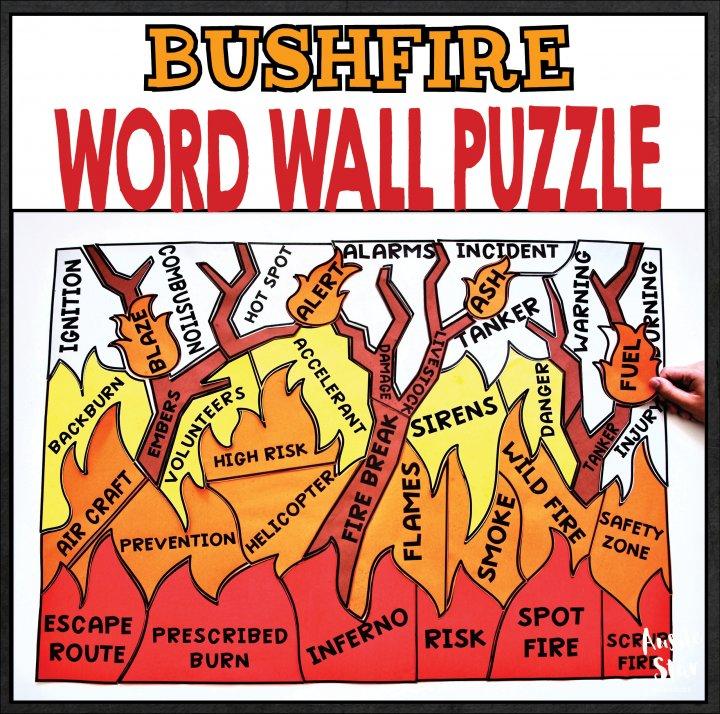 earth-science-bushfire-word-wall