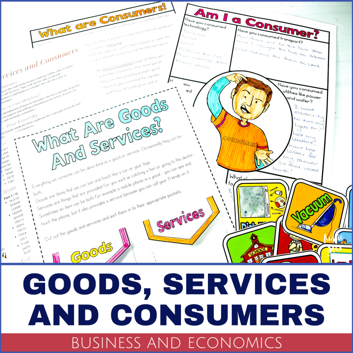 This activity pack will help your students define and identify Goods and Services and explore their role as Consumers. Australian Curriculum Aligned.