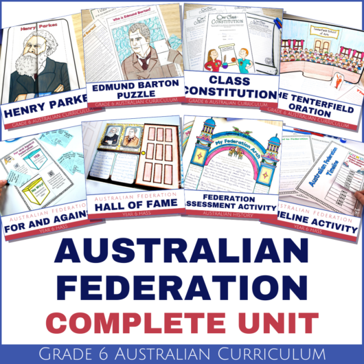 Australian-Federation-unit-lessons-activities-grade-6-hass