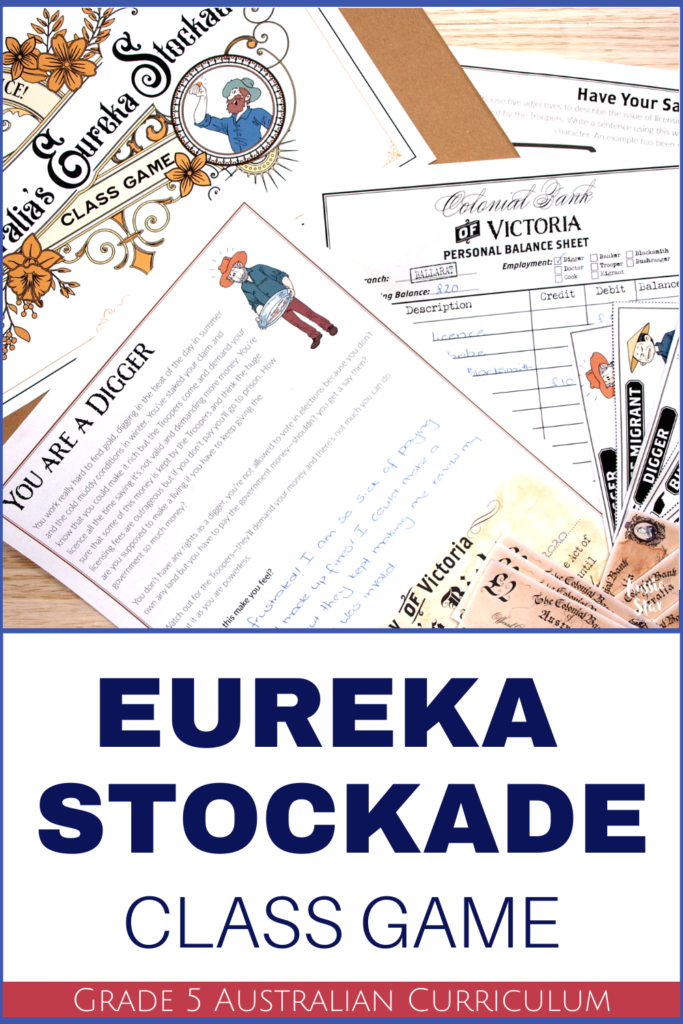Eureka Stockade activity for grade 5 HASS