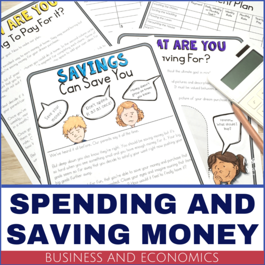 Year 5 HASS Business and Economics saving money financial decisions lesson activity