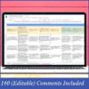 Year 5 HASS Australian Curriculum Assessment Digital Grade Book and Report Comment Tracker